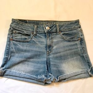 American Eagle Super Super Stretch Midi Shorts